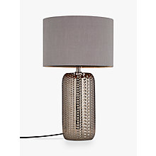 Buy John Lewis Sabrina Dimple Ceramic Table Lamp, Chrome Online at johnlewis.com