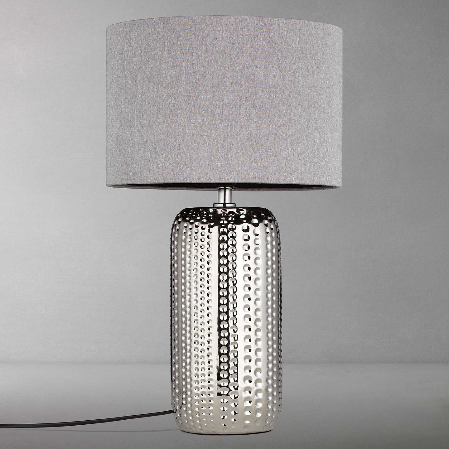 BuyJohn Lewis Sabrina Dimple Ceramic Table Lamp, Chrome Online at johnlewis.com