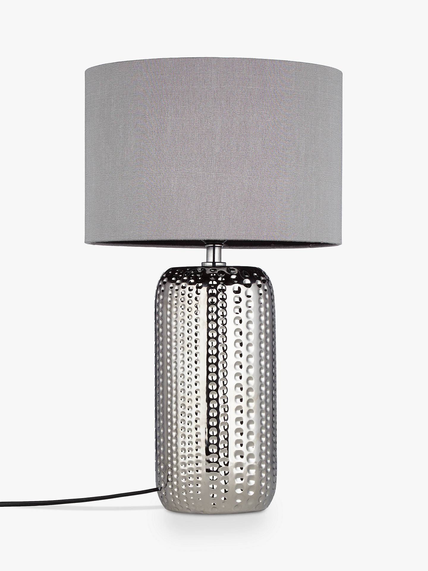BuyJohn Lewis & Partners Sabrina Dimple Ceramic Table Lamp, Chrome Online at johnlewis.com