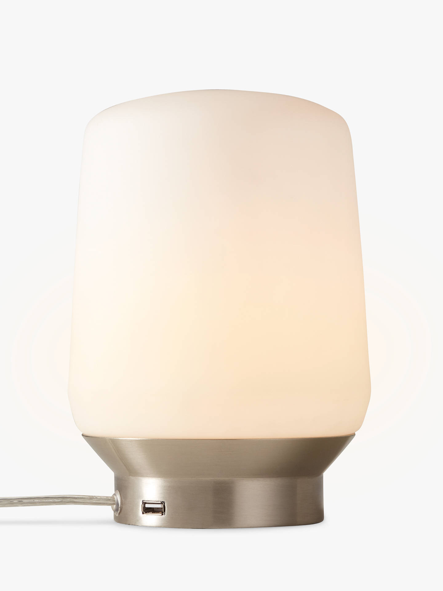 BuyJohn Lewis & Partners Stanza USB Charging Touch Lamp, Satin Nickel Online at johnlewis.com