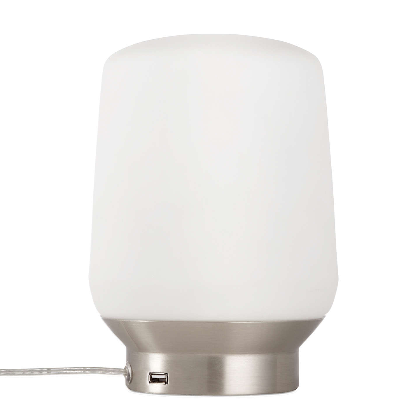 BuyJohn Lewis Stanza USB Charging Touch Lamp, Satin Nickel Online at johnlewis.com