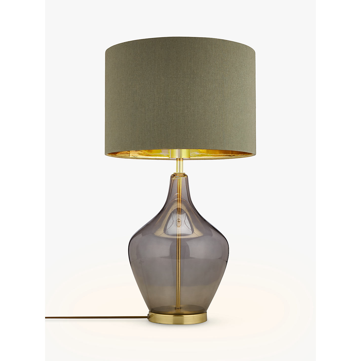 Buy john lewis ursula table lamp smoked glass john lewis buy john lewis ursula table lamp smoked glass online at johnlewis geotapseo Image collections