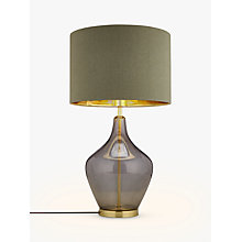 Buy John Lewis Ursula Table Lamp, Smoked Glass Online at johnlewis.com