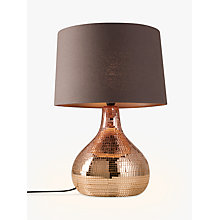 Buy John Lewis Kiera Table Lamp, Copper Online at johnlewis.com