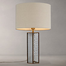 Buy John Lewis Rhea Table Lamp, Clear / Brass Online at johnlewis.com