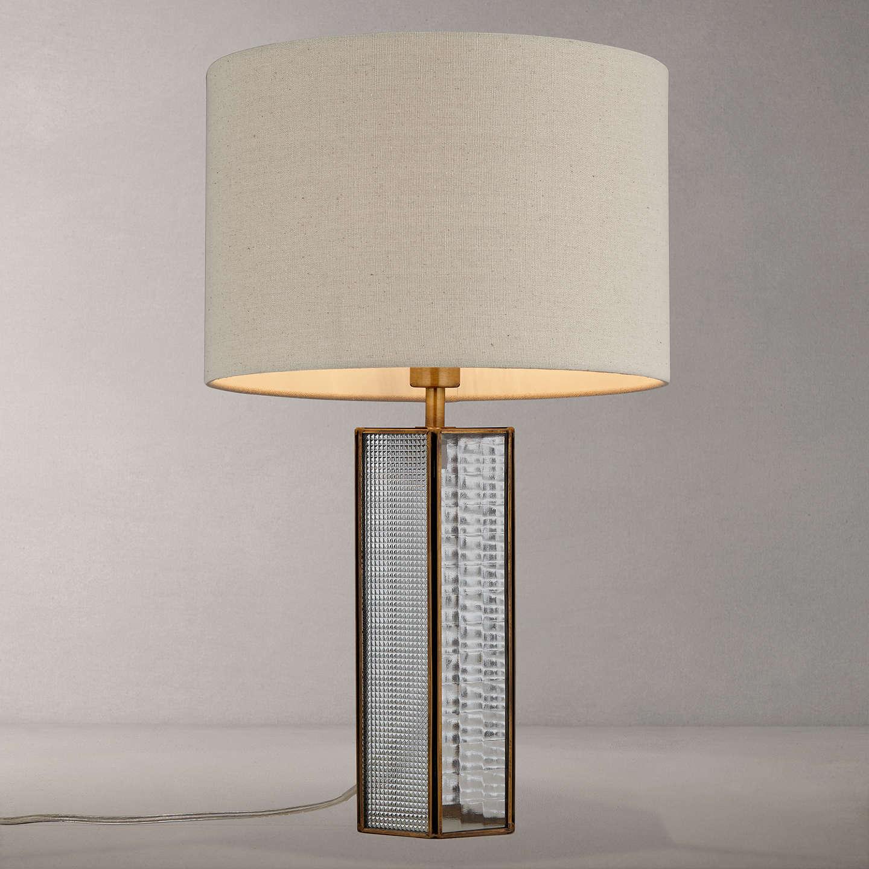 john lewis rhea table lamp clear brass at john lewis