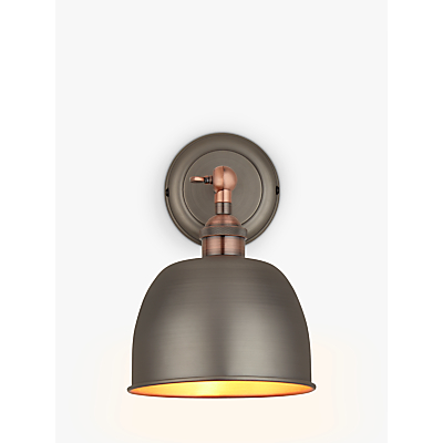 John Lewis Baldwin Wall Light, Pewter / Copper