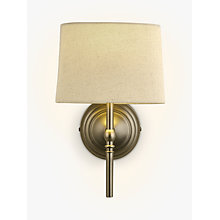 Buy John Lewis Isabel Wall Light, 1 Light, Pewter Online at johnlewis.com