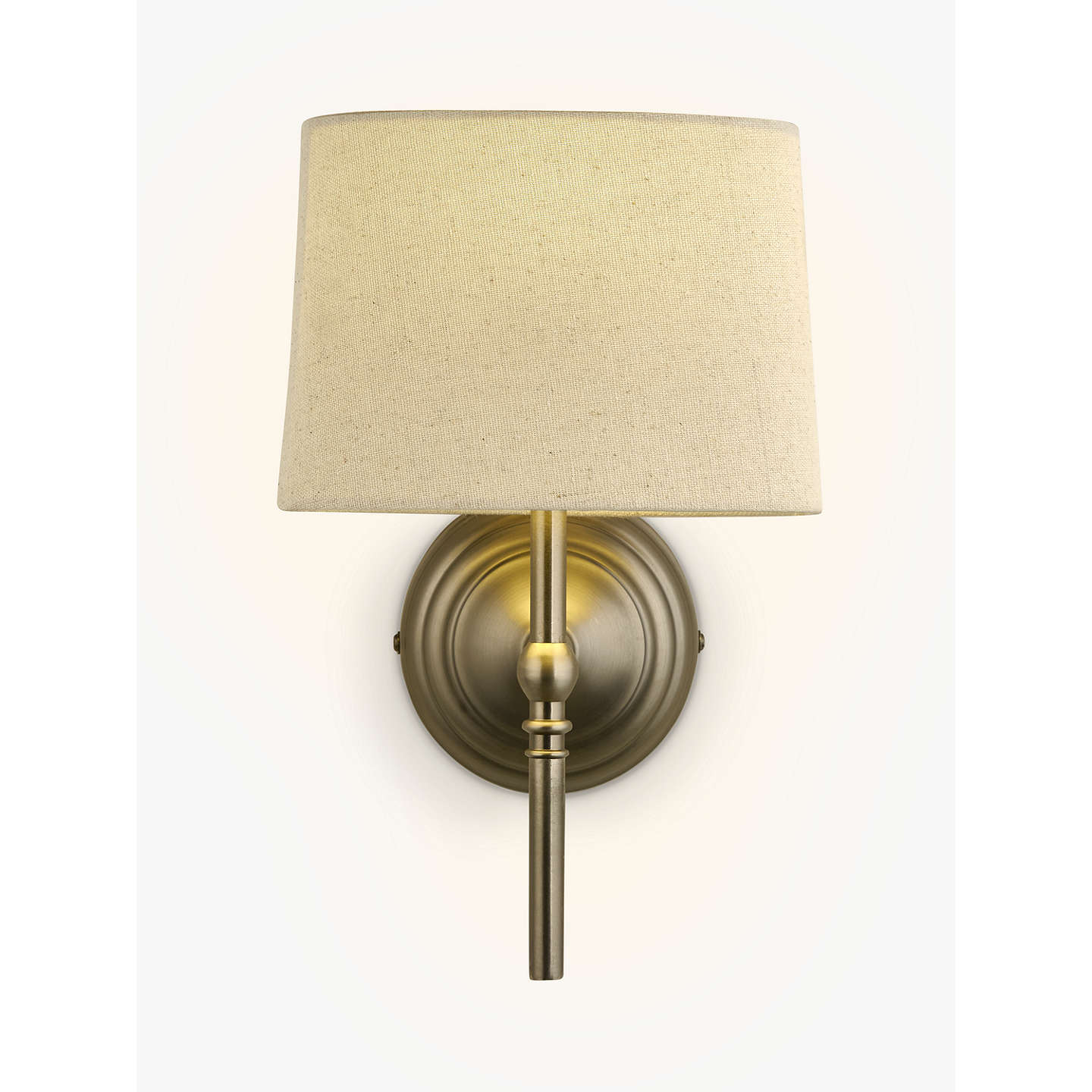 Porch Light John Lewis: John Lewis Isabel Wall Light, 1 Light, Pewter At John Lewis