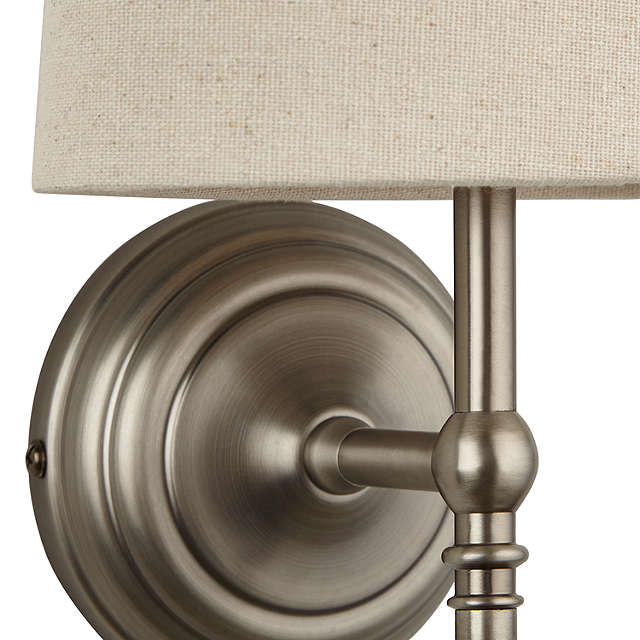 BuyJohn Lewis Isabel Wall Light, 1 Light, Pewter Online at johnlewis.com