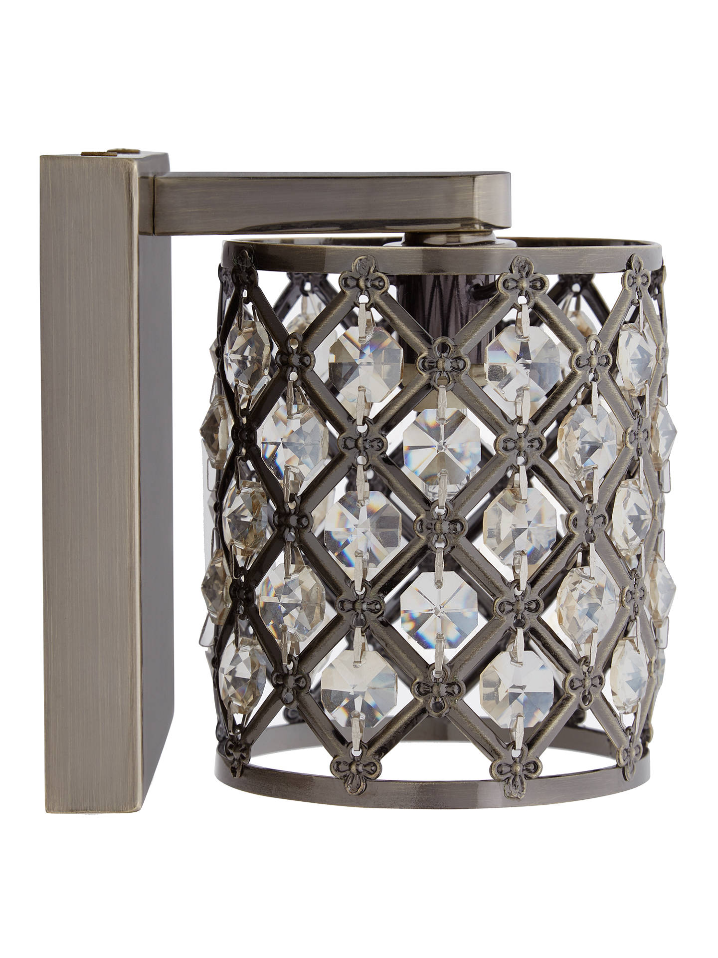 Buy John Lewis & Partners Gigi Crystal Wall Light, Antique Brass Online at johnlewis.com