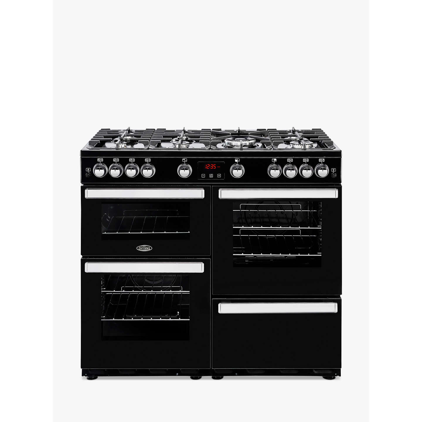 BuyBelling Cookcentre 100G Gas Range Cooker, Black Online at johnlewis.com