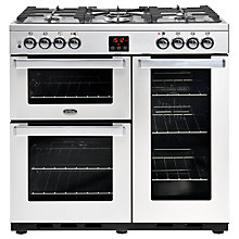 Buy Belling Cookcentre 90DFT Dual Fuel Range Cooker Online at johnlewis.com