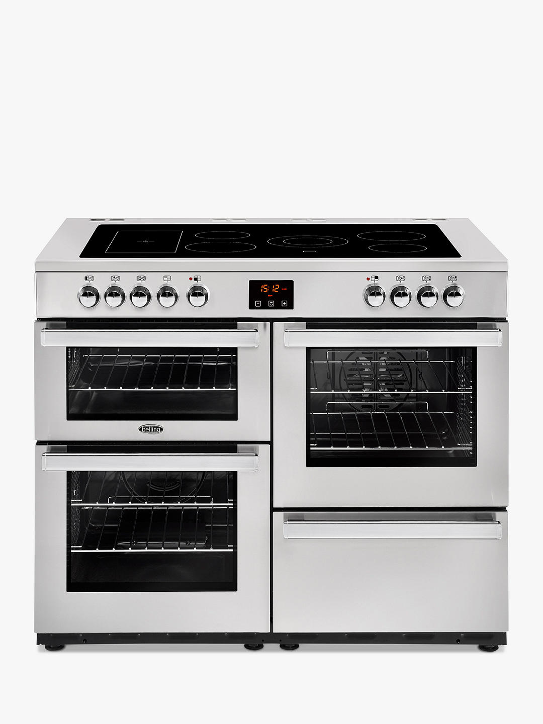 Buy Belling Cookcentre 110E Electric Range Cooker with Ceramic Hob, Stainless Steel Online at johnlewis.com