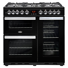 Buy Belling Cookcentre Deluxe 90DFT Dual Fuel Range Cooker Online at johnlewis.com