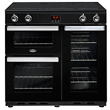 Buy Belling Cookcentre 90EI Electric Range Cooker With Induction Hob Online at johnlewis.com