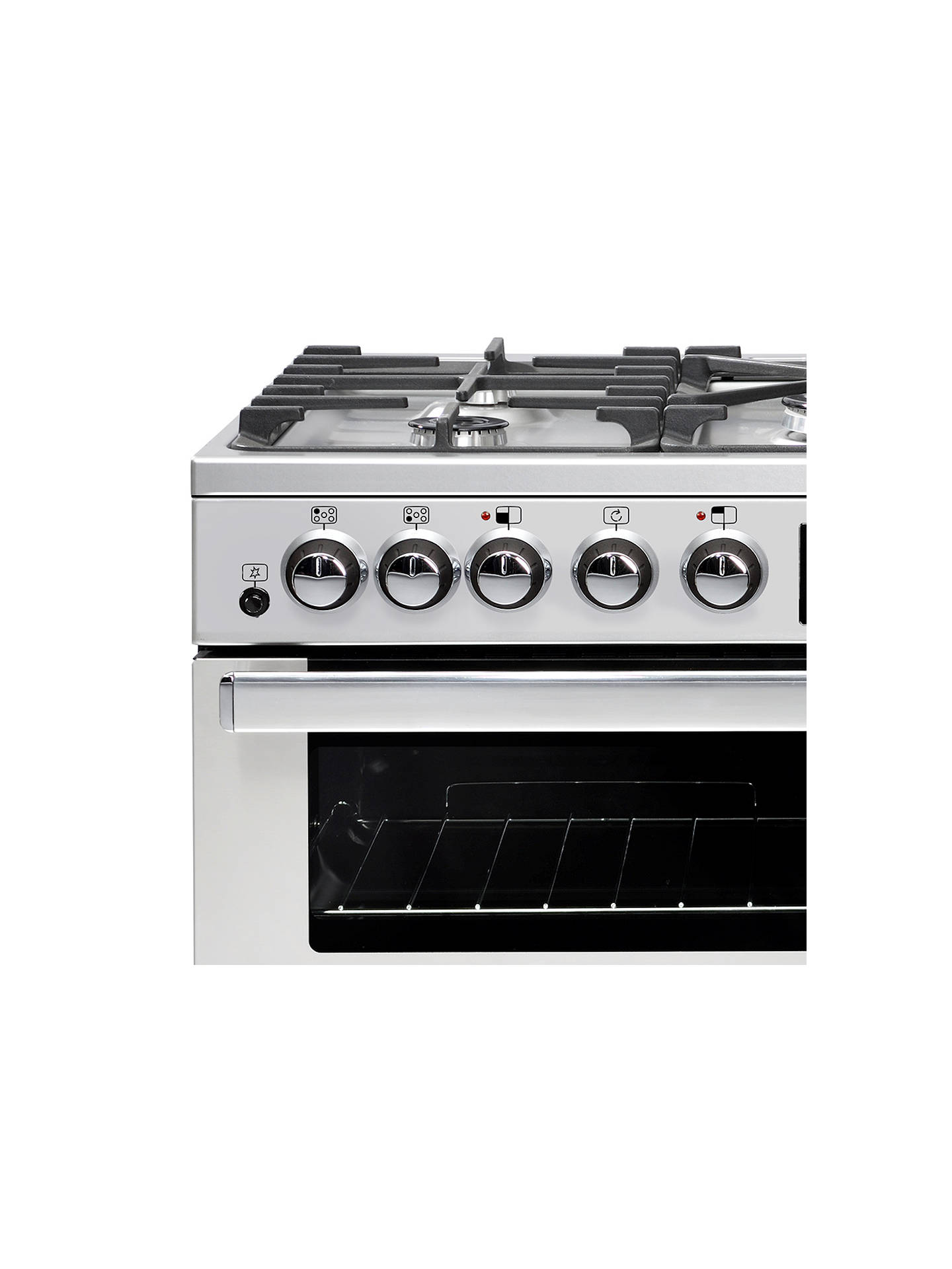 BuyBelling Cookcentre Deluxe 90DFT Dual Fuel Range Cooker, Stainless Steel Online at johnlewis.com