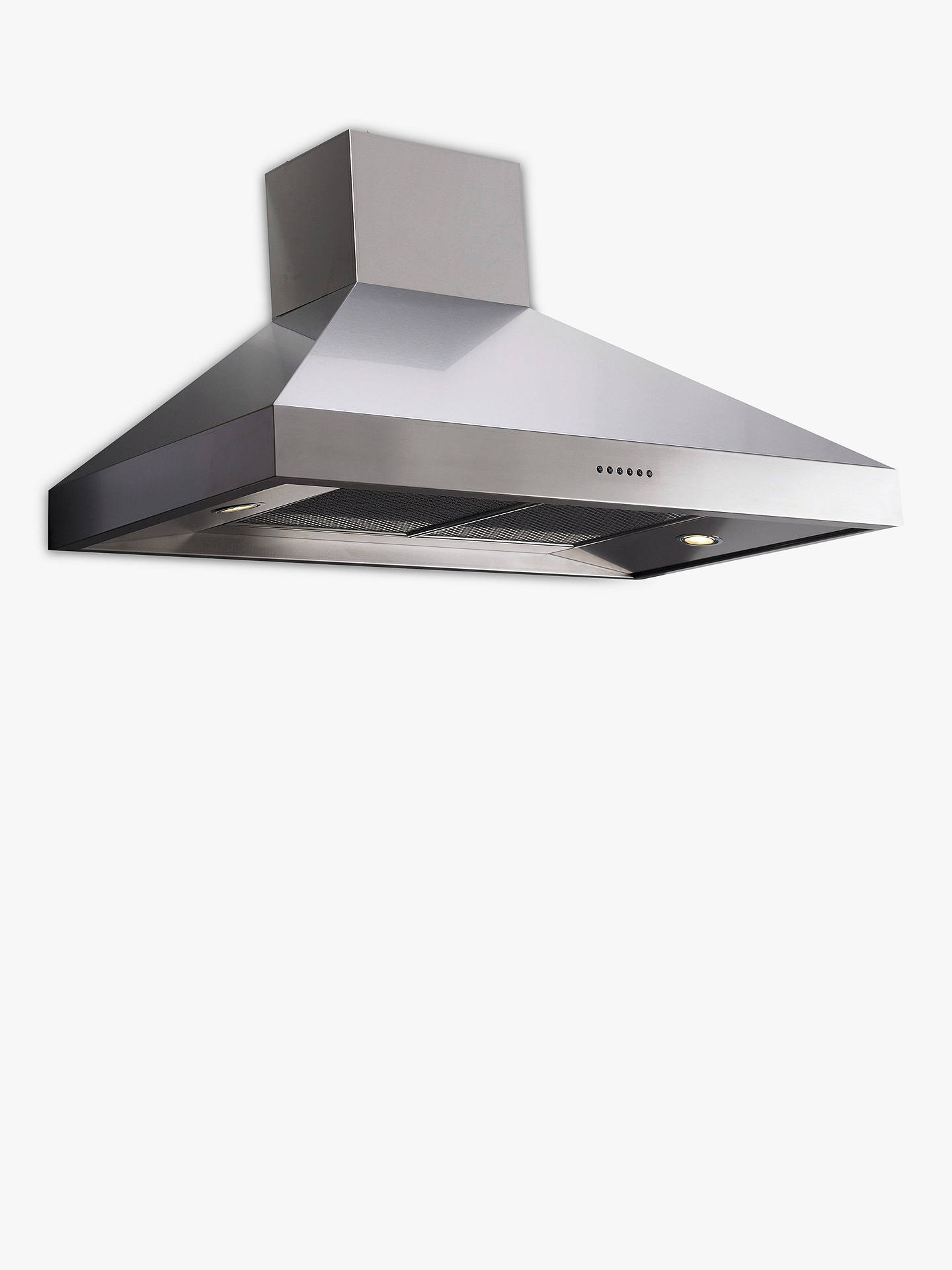 BuyBritannia HOOD-BTH120-S Latour Chimney Cooker Hood, Stainless Steel Online at johnlewis.com