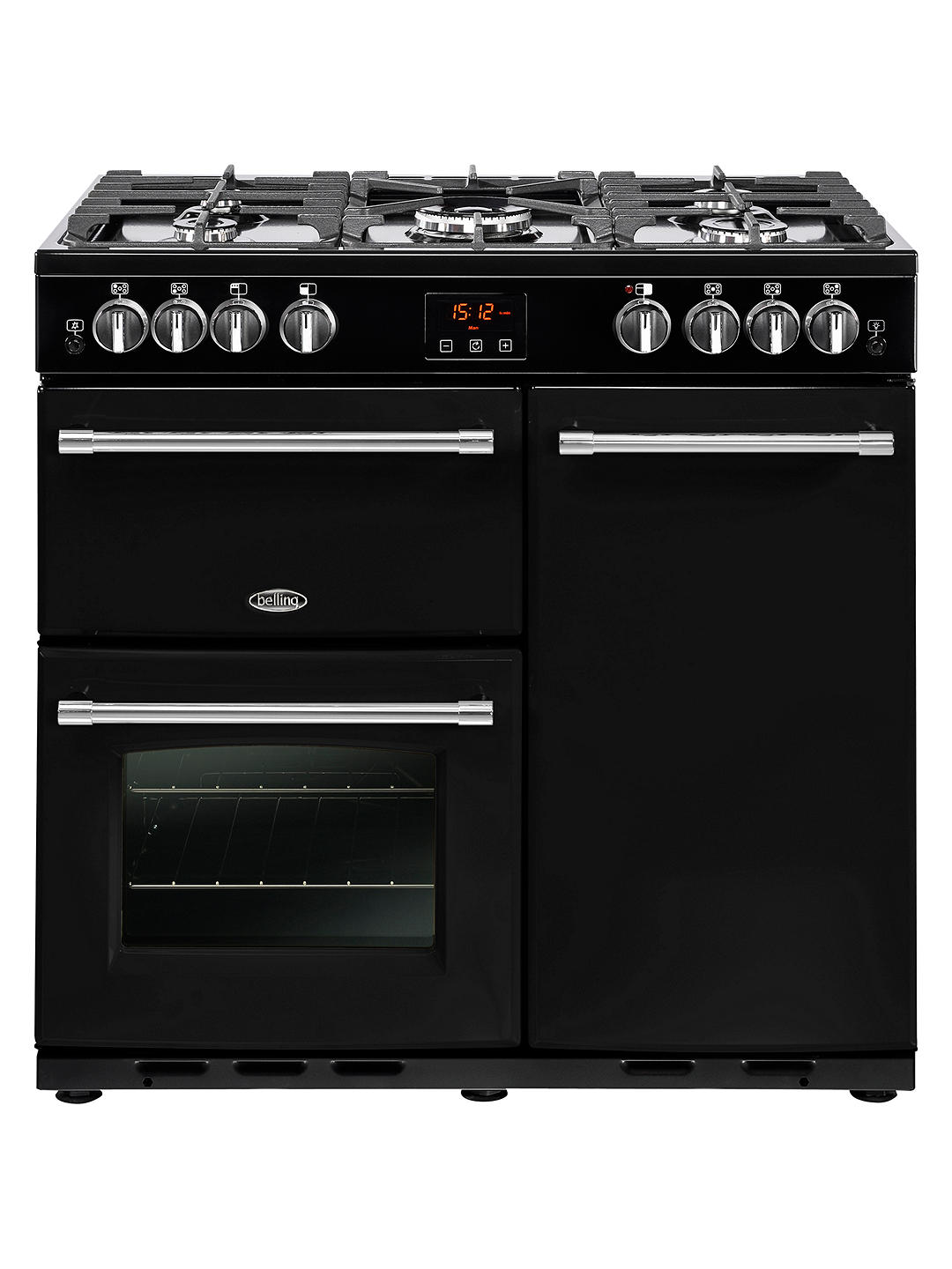 Buy Belling Farmhouse 90G Gas Range Cooker, Black Online at johnlewis.com