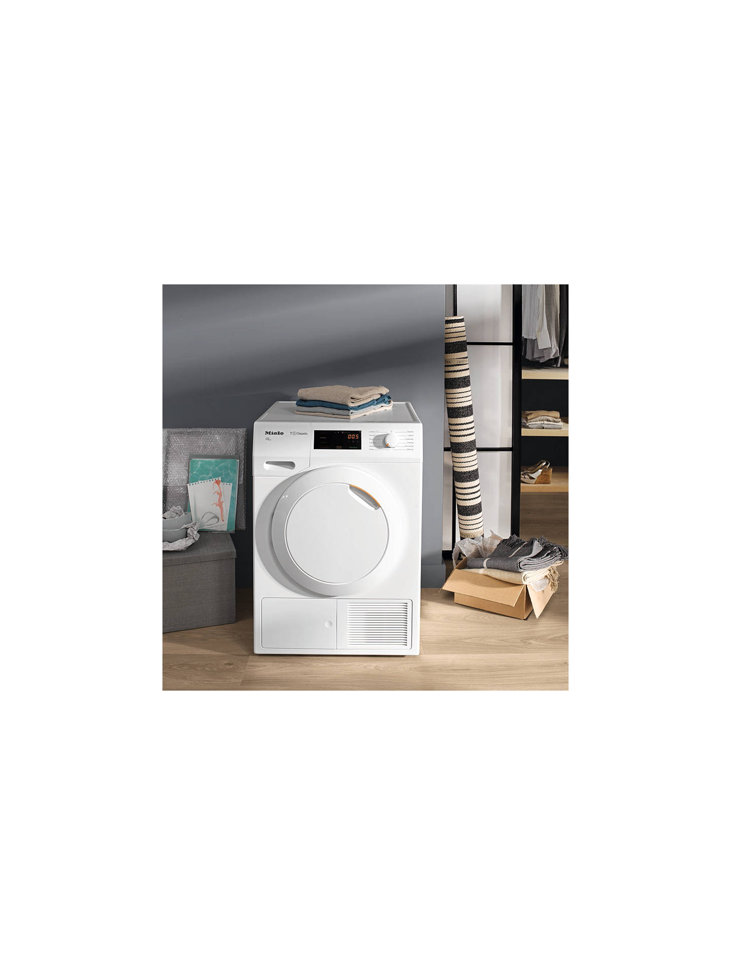 Miele TDB130WP Eco Heat Pump Tumble Dryer, 7kg Load, A++
