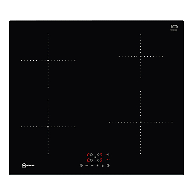 NEFF T36FB41X0G Electric Induction Hob – Black, Black