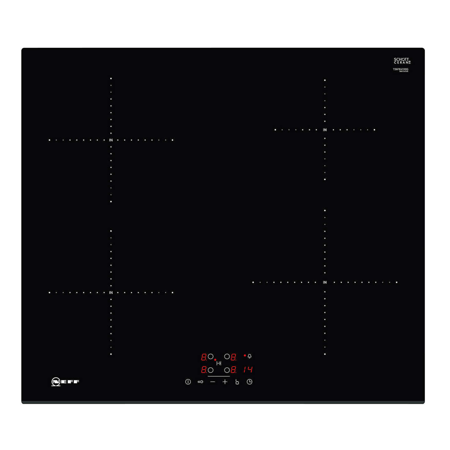 neff t36fb41x0g induction hob black at john lewis rh johnlewis com Light Switch Wiring Diagram Residential Electrical Wiring Diagrams