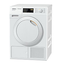 Buy Miele TDD130WP Heat Pump Freestanding Tumble Dryer, 8kg Load, A++ Energy Rating, White Online at johnlewis.com