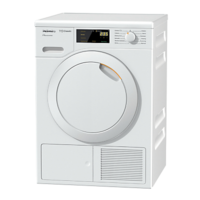 Image of Miele TDD120WP Freestanding Heat Pump Tumble Dryer, 8kg Load, A++ Energy Rating, White
