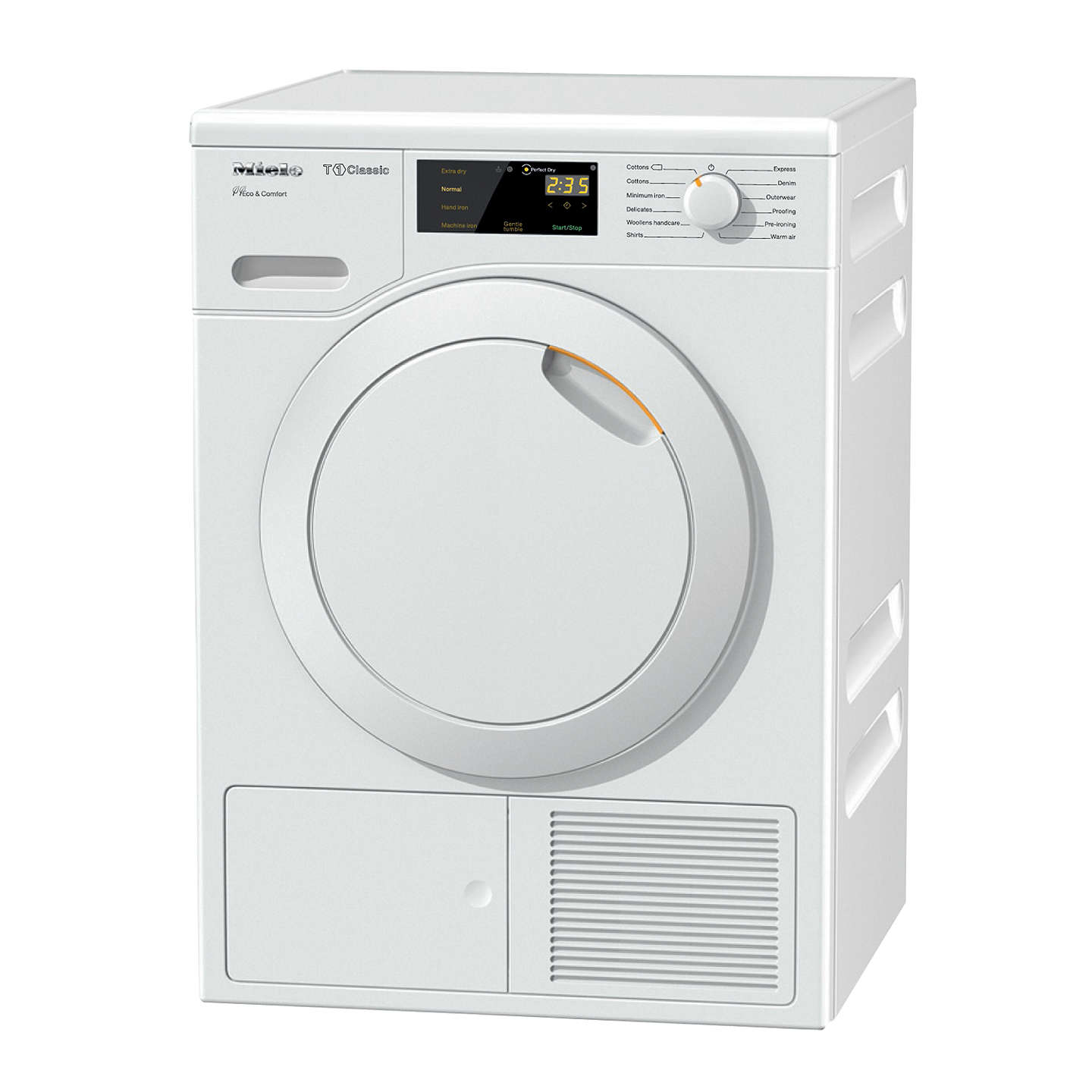 Buymiele Tdd120Wp Freestanding Tumble Dryer, 8Kg Load, A++ Energy Rating,