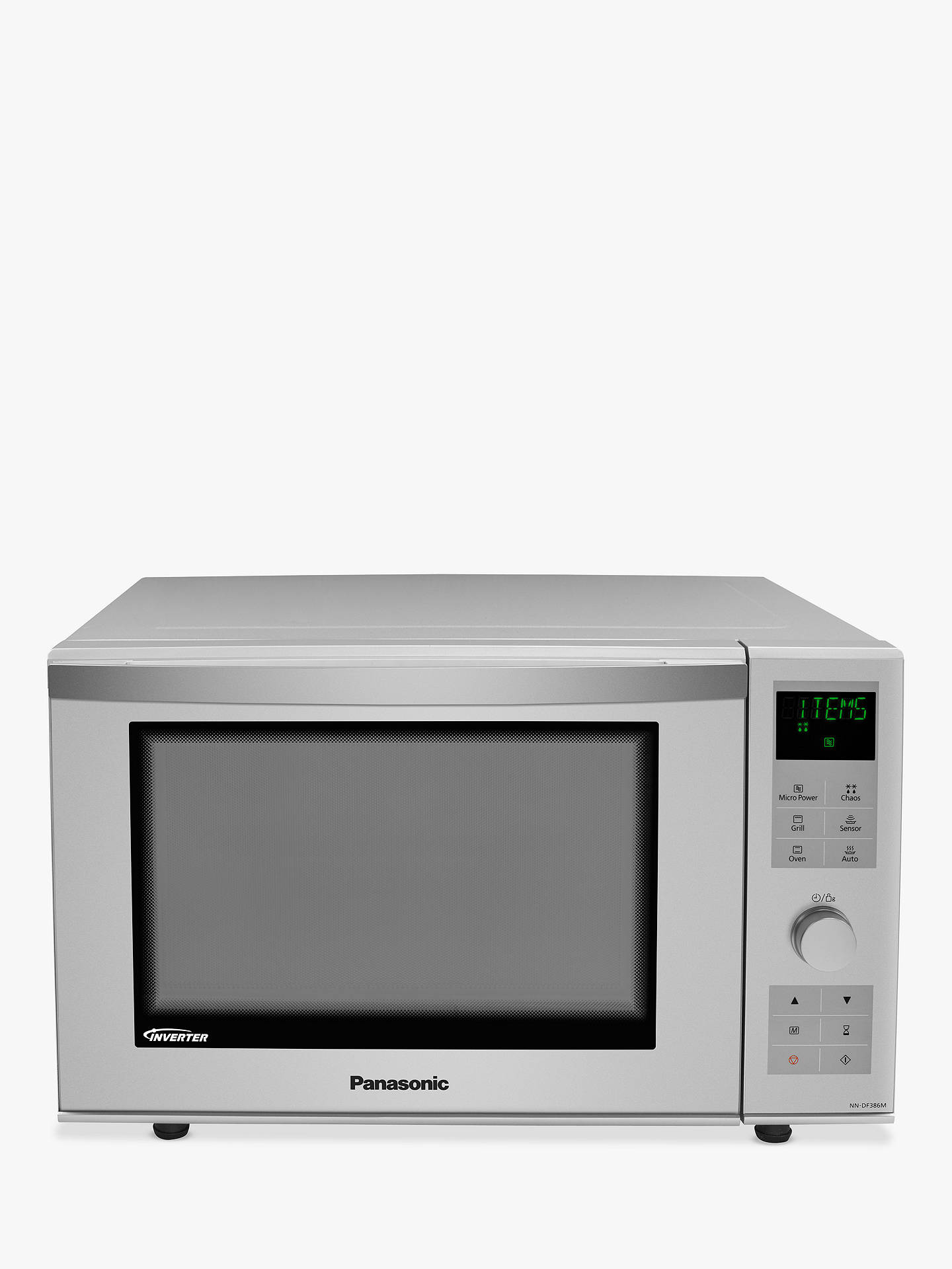 320c5e77 Buy Panasonic NN-DF386MBPQ Combination Microwave Oven, Silver Online at  johnlewis.com ...