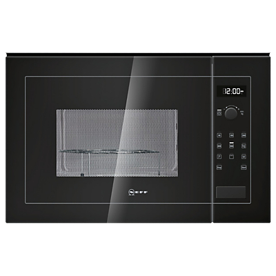 Image of Neff H12GE60S0G 900W 25L Built-in Microwave With Grill Black