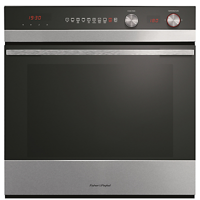 Image of Fisher & Paykel OB60SC9DEX1 Built-In Single Electric Oven, Stainless Steel / Black