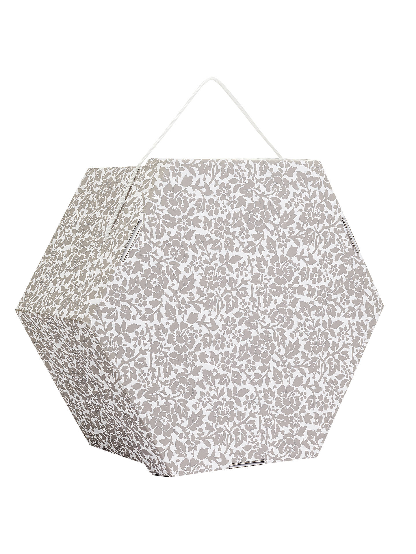 d872eef009b BuyJohn Lewis   Partners Archive Floral Print Hexagonal Occasion Hat Box