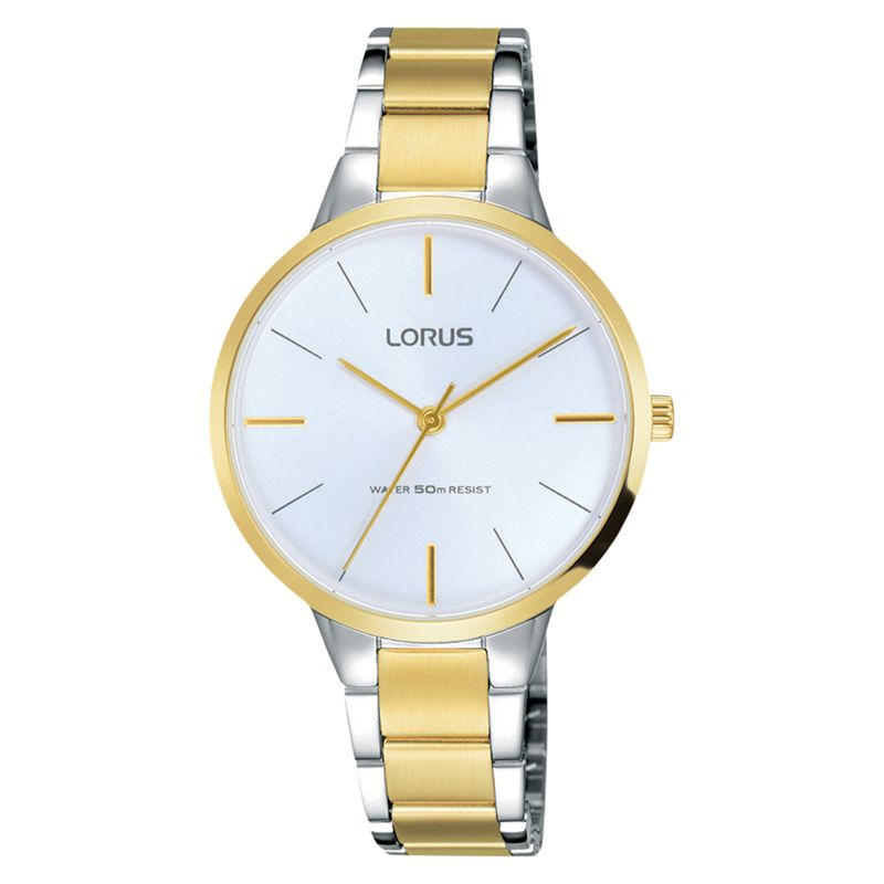 Lorus Rrs02wx9 Womens Two Tone Bracelet Strap Watch Silvergold At
