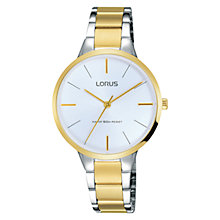 Buy Lorus RRS02WX9 Women's Two Tone Bracelet Strap Watch, Silver/Gold Online at johnlewis.com