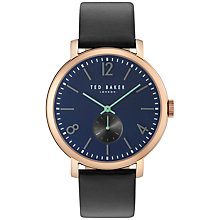 Buy Ted Baker Men's Oliver Leather Strap Watch Online at johnlewis.com
