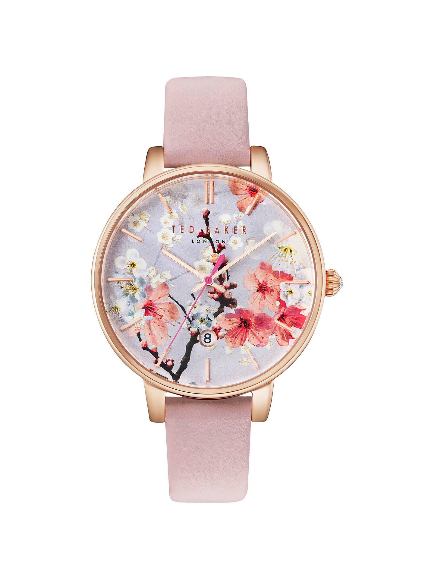 1ce0283a2a00ab Buy Ted Baker TE10031544 Women s Katie Oriental Floral Date Leather Strap  Watch