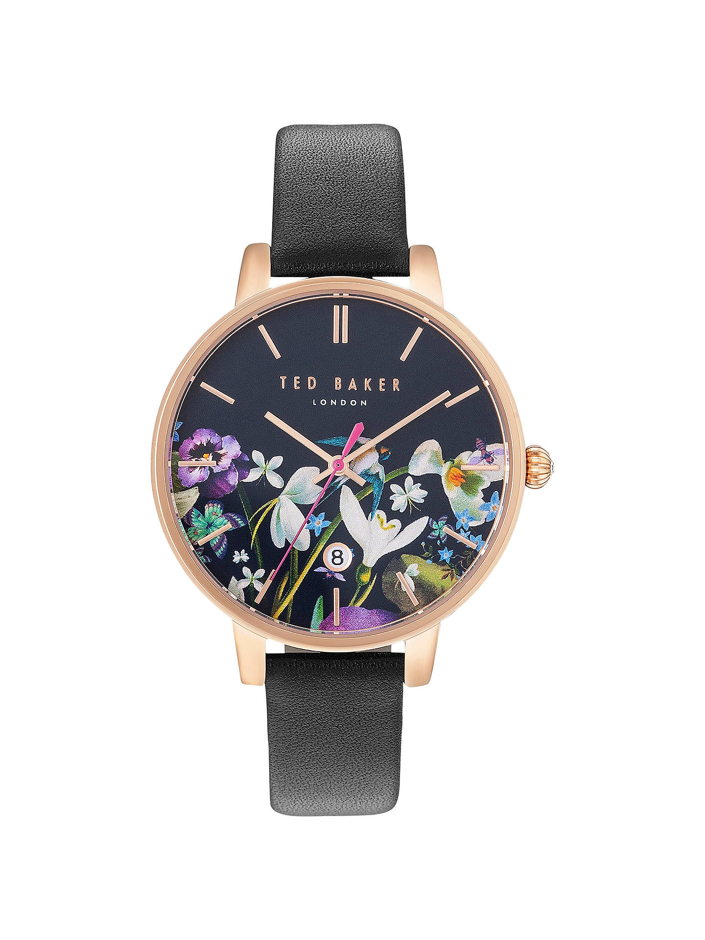184b19b5b41e Buy Ted Baker TE10031552 Women s Katie Enchantment Floral Date Leather  Strap Watch