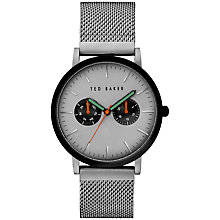Buy Ted Baker TE3037 Men's Brit Day Bracelet Strap Watch, Silver Online at johnlewis.com