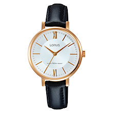 Buy Lorus Women's Leather Strap Watch Online at johnlewis.com