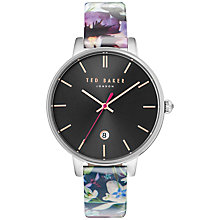 Buy Ted Baker TE10031549 Women's Katie Date Enchantment Floral Leather Strap, Multi/Black Online at johnlewis.com