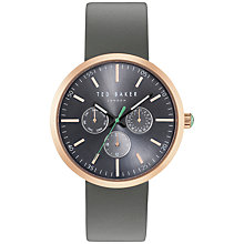 Buy Ted Baker Men's Jack Chronograph Leather Strap Watch Online at johnlewis.com
