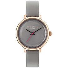 Buy Ted Baker TE10031534 Women's Isla Leather Strap Watch, Grey Online at johnlewis.com