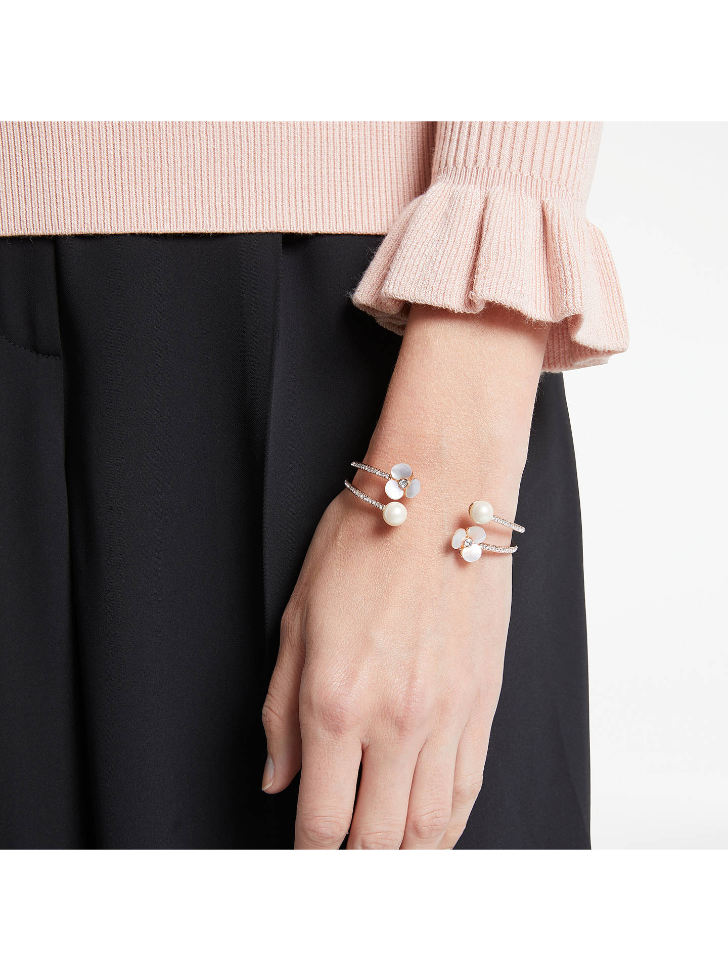 f391adc2f7449 kate spade new york Flower Open Double Cuff, Rose Gold