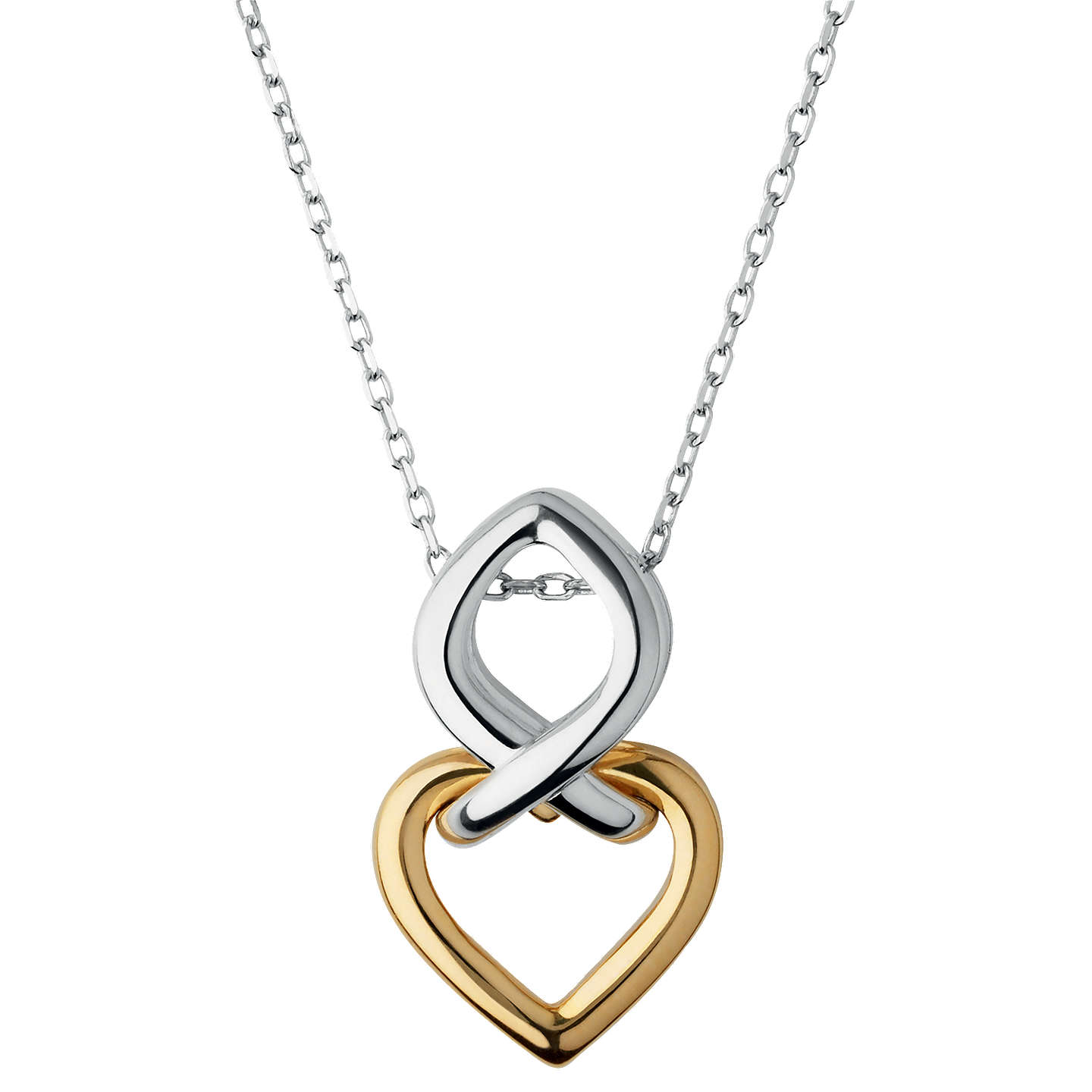 Links of london infinite love pendant necklace silvergold at john buylinks of london infinite love pendant necklace silvergold online at johnlewis aloadofball Images