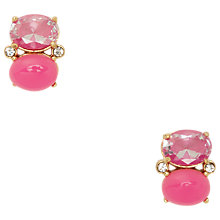 Buy kate spade new york Oval Double Drop Earrings, Pink Online at johnlewis.com
