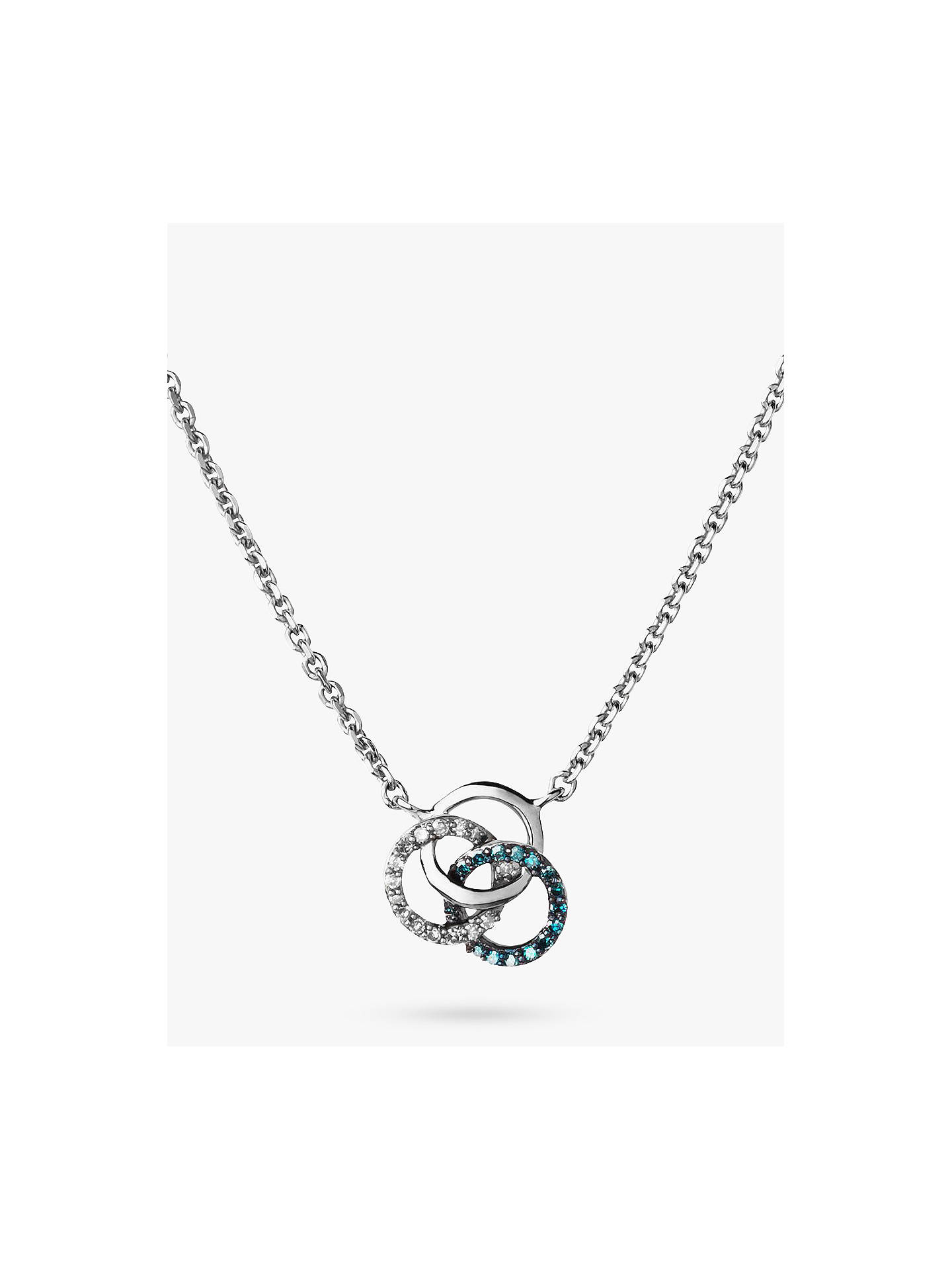 BuyLinks of London Treasured Diamond Pave Interlocked Ring Pendant Necklace, Silver/Multi Online at johnlewis.com