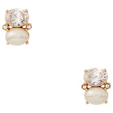 Buy kate spade new york Double Oval Stud Earrings, Cream/Clear Online at johnlewis.com