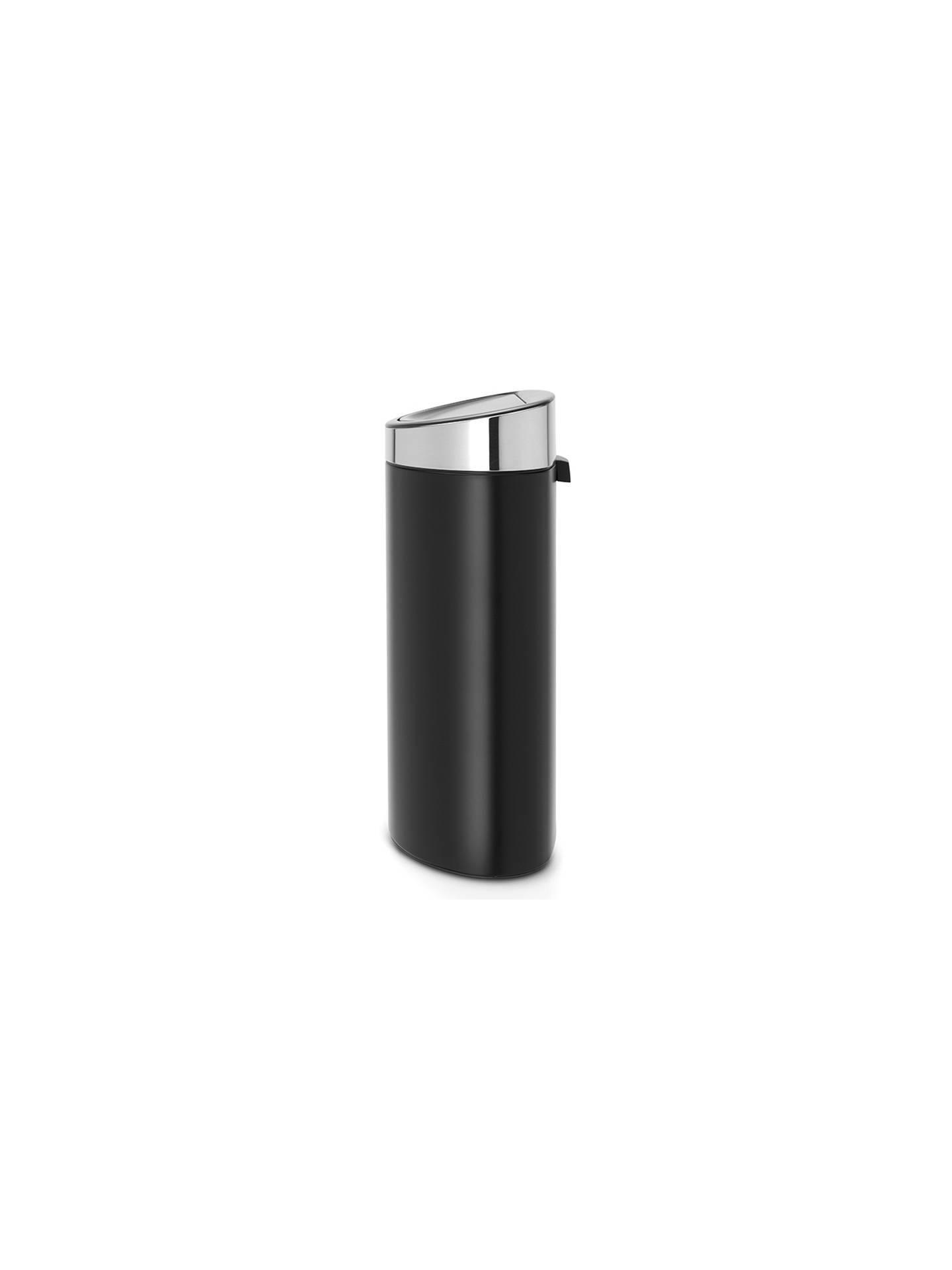 Brabantia Touch Bin Flat Top 30 Liter Wit.Brabantia Touch Bin New 40l Matt Black