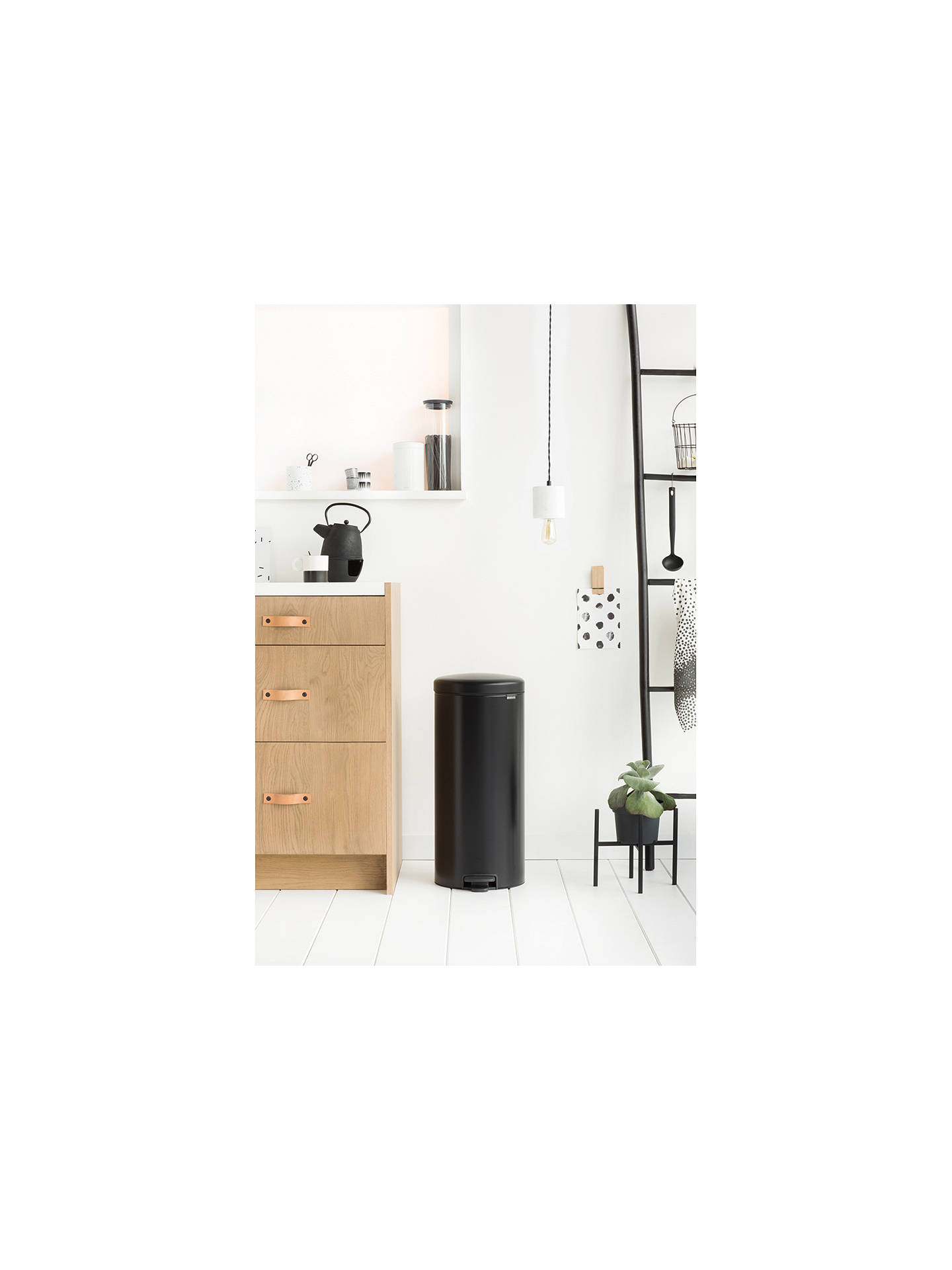 BuyBrabantia newIcon Pedal Bin, 30L, Matt Black Online at johnlewis.com